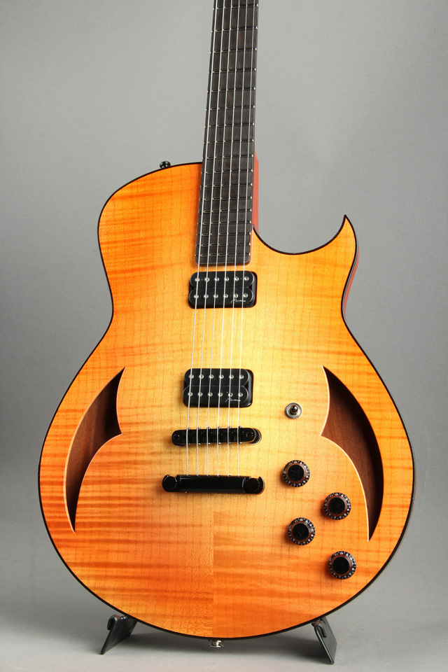 Marchione Semi Hollow Figured Maple / Mahogany / 59 Burst