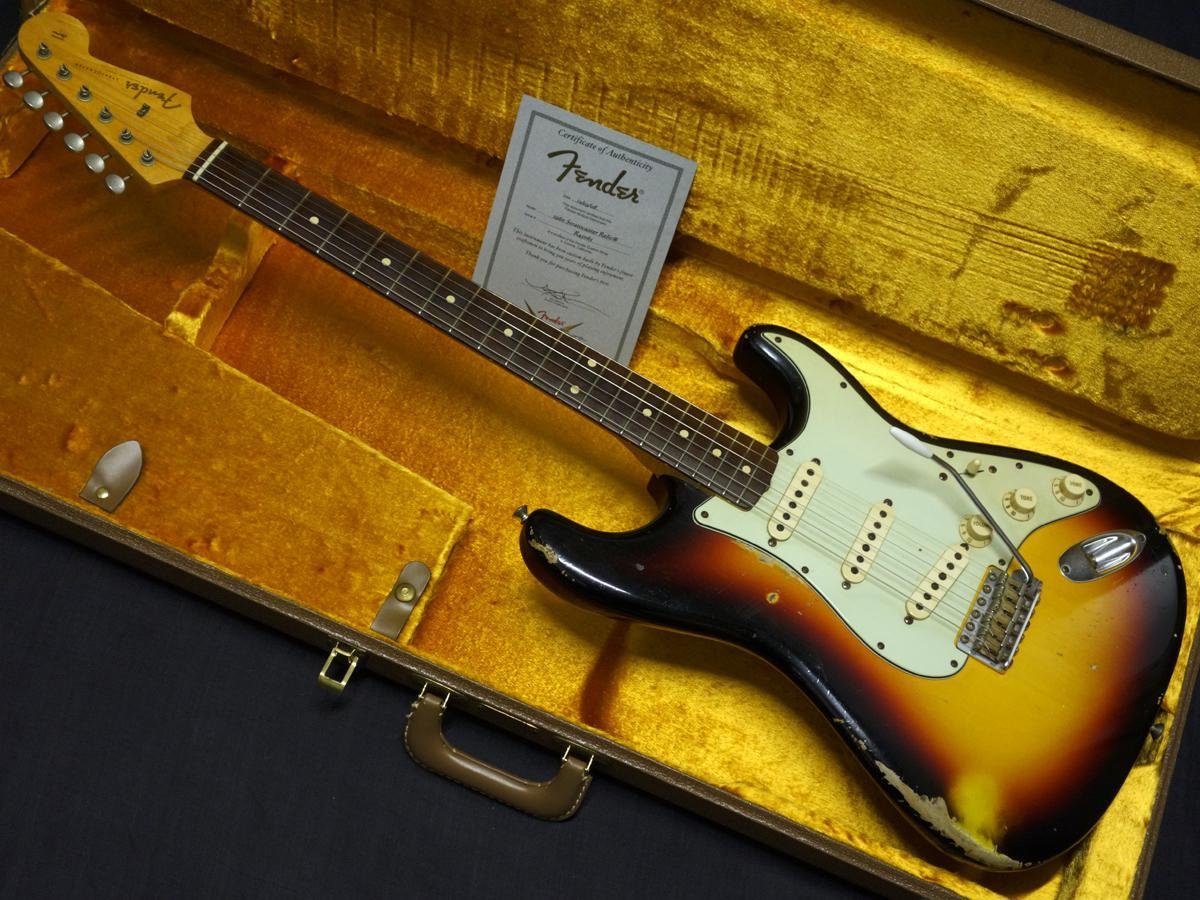 Fender Custom Shop 1960 Stratocaster Relic 3-Color Sunburst made 2012 [the end of the year big thank Sale] [Gifu shop]