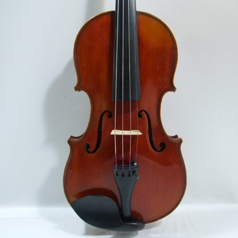 "Jerome Thibouville-Lamy French-made violin fraction 3/4 ""Compagnon"" JTL Mirecour 1910 around Gewa case"