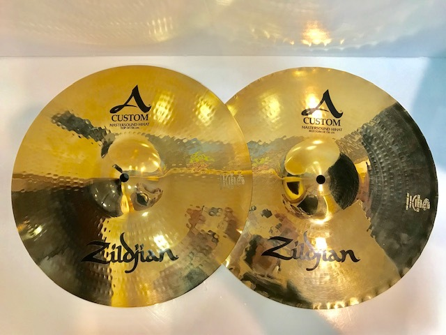 "Zildjian A Custom 14 ""Mastersound Hihats [there stock !!!]"