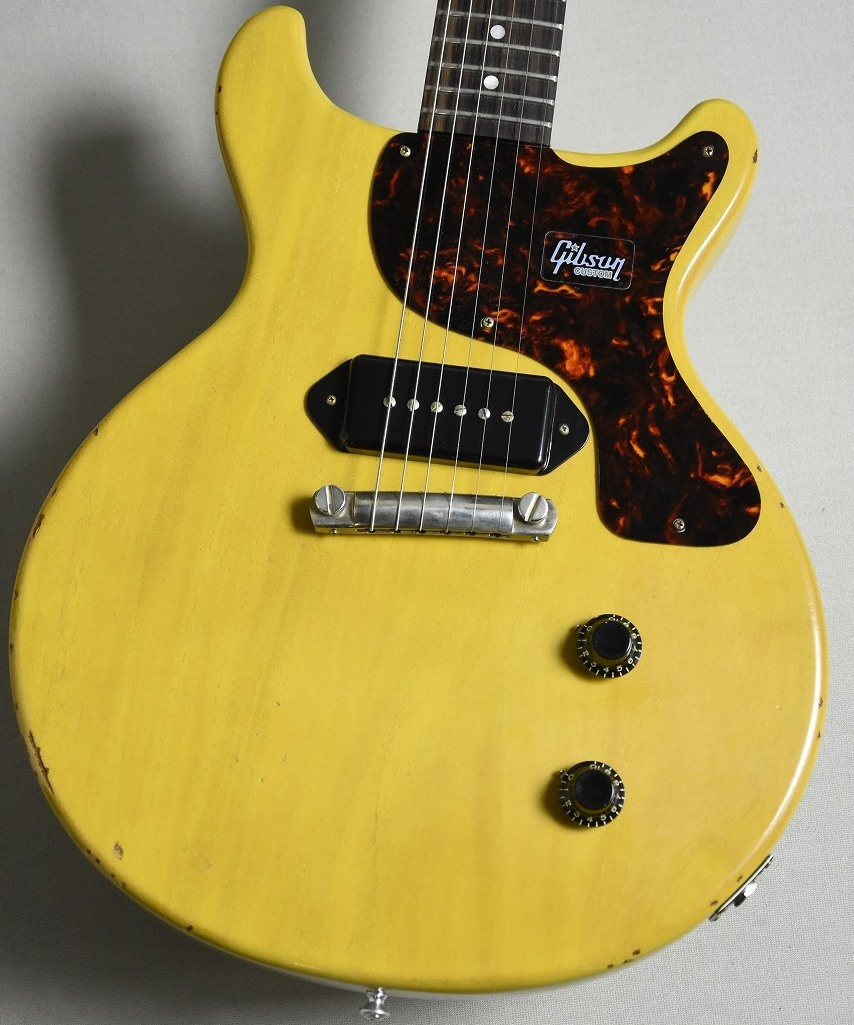 Gibson Custom Shop Japan Limited 1959 Les Paul Junior Double Cut Bright TV Yellow Slight Light Aged