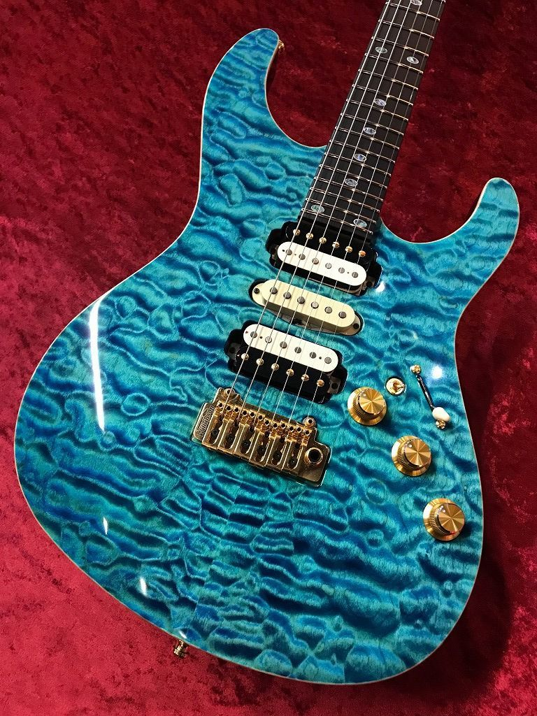 "FREEDOM CUSTOM GUITAR RESEARCH HYDRA 2point-24F ""Premium Quilt Maple Top,Honduras Mahogany Body""  -そよ風-"