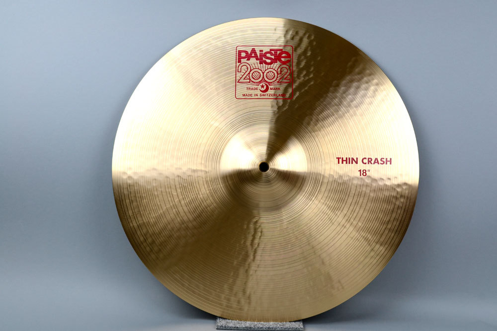 PAiSTe 2002TC18 2002 Series Thin crash 18 inches exhibit good bargain