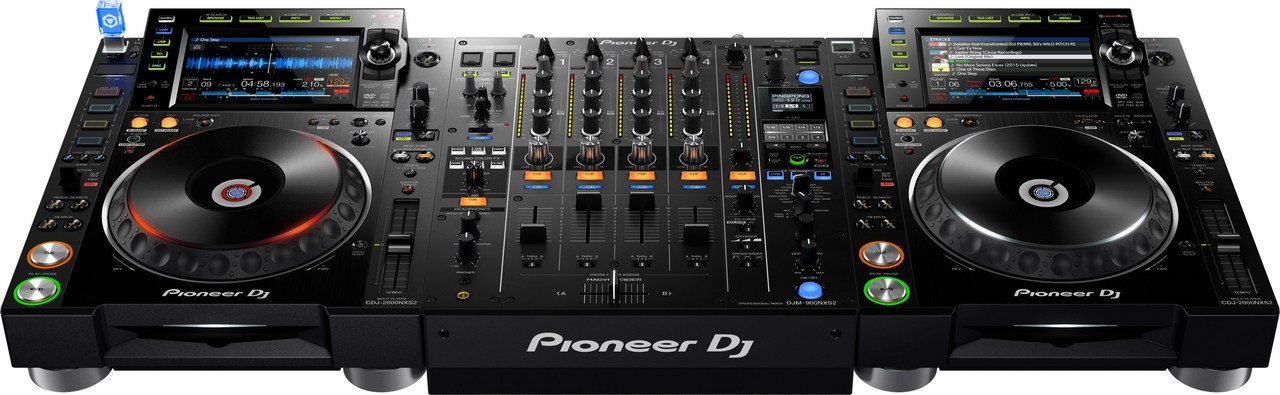 Pioneer Dj CDJ-2000NXS2 2 units ×, DJM-900NXS2, DDJ-SP1 set