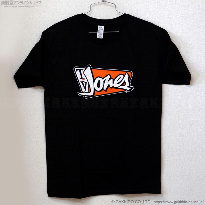 TV JONES Mens Orange Logo Orange Logo T-shirt M black