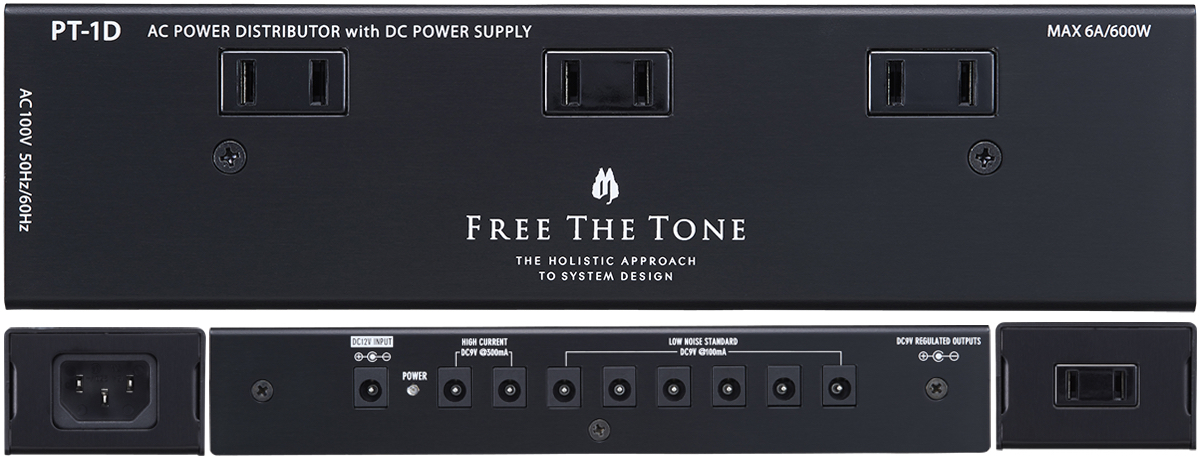 Free The Tone PT-1D / AC POWER DISTRIBUTOR with DC POWER SUPPLY [(Excluding islands)]