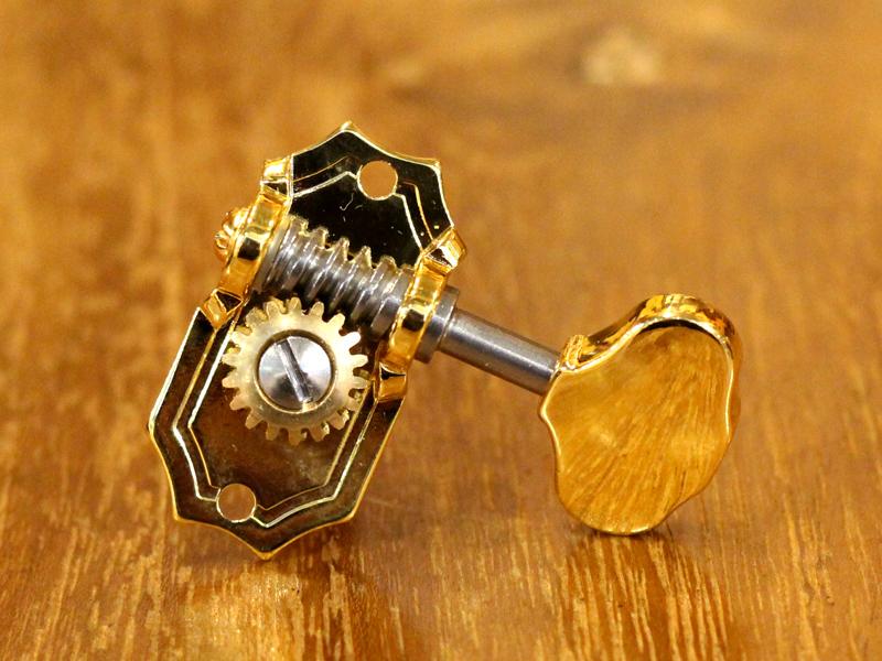 Kluson 3 per Side / Ornate Button / Gold / Prestige
