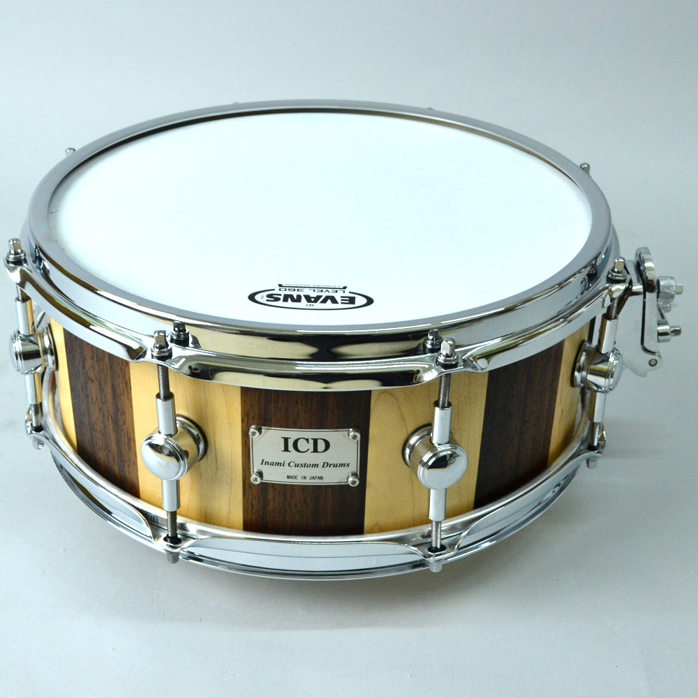 ICD (Inami Custom Drums) Solid Maple / Padouk Stave 13 × 5.2 Snare Drum []