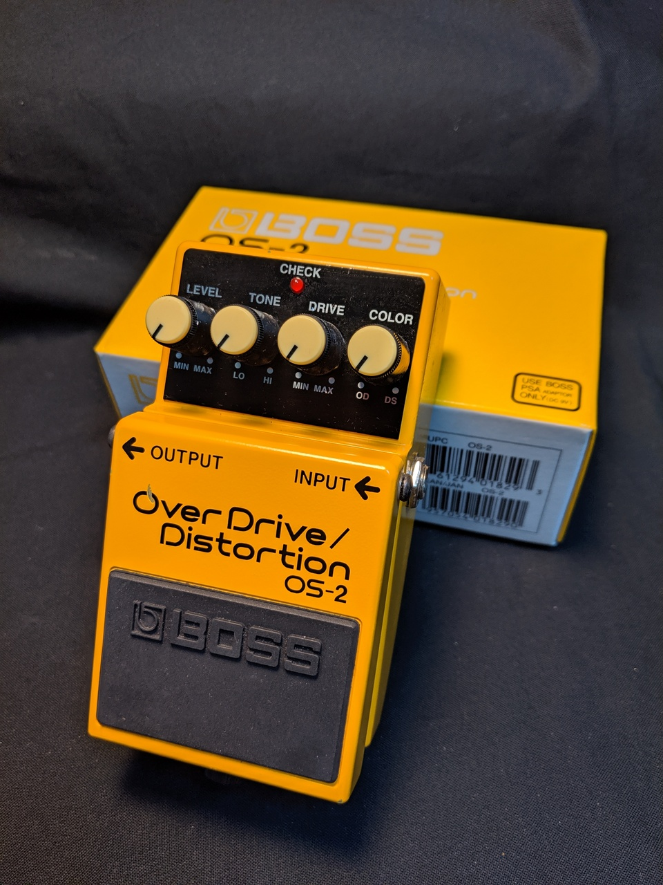 "BOSS OS-2 Over Drive / Distortion"" MADE IN TAIWAN"""