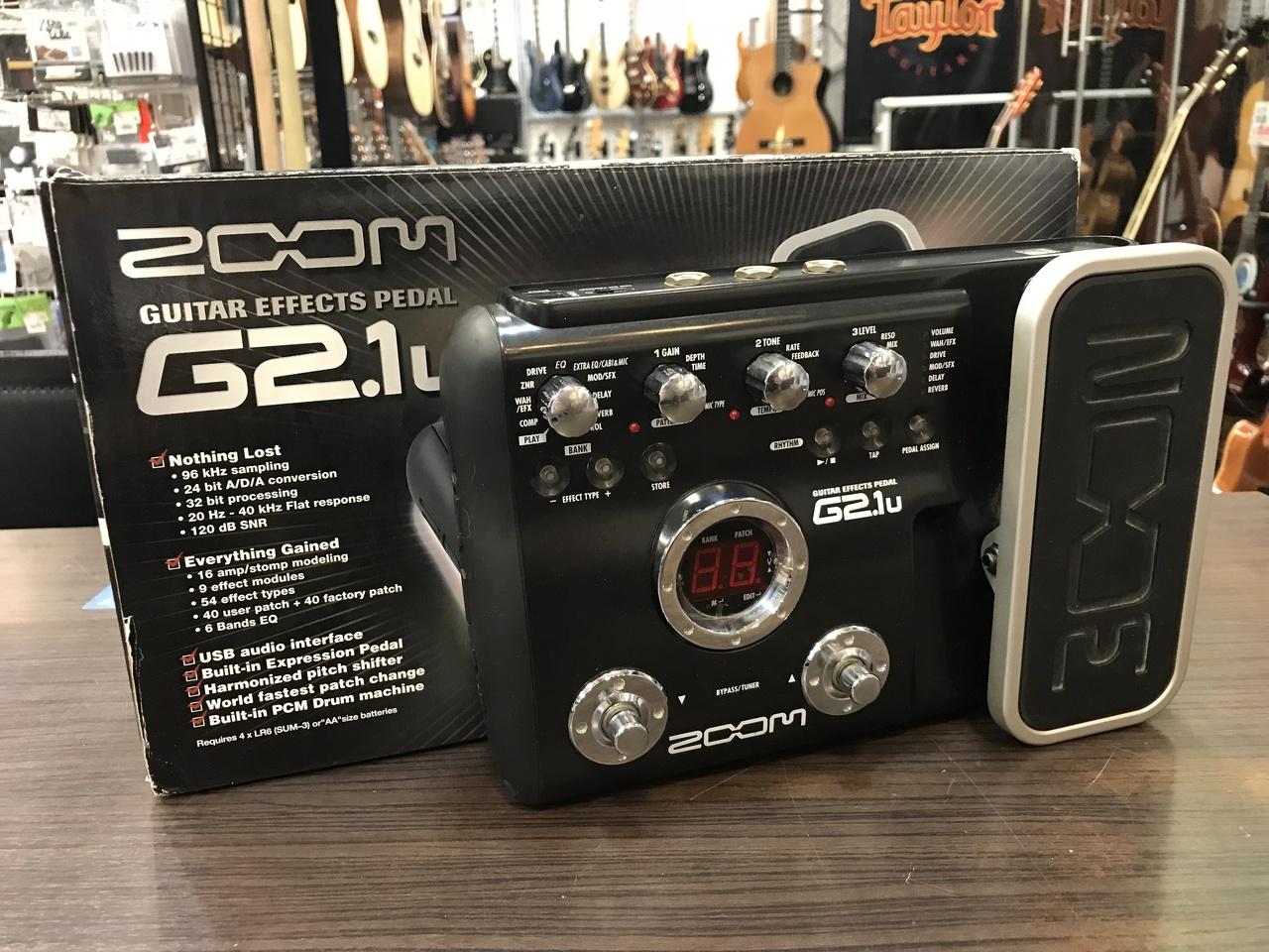 ZOOM G2.1u吉他效果器踏板[使用文章] [原包裝盒,說明書·CD-ROM·與AC適配器]