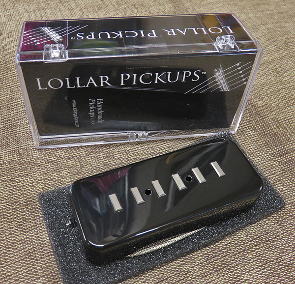 LOLLAR PICKUPS P-90 Soap Bar Staple black soapbar cover neck position