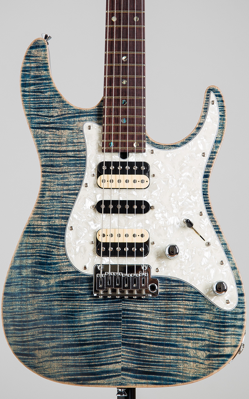 T's Guitars DSTC-Pro 24 MH-LTD Trans Blue Denim
