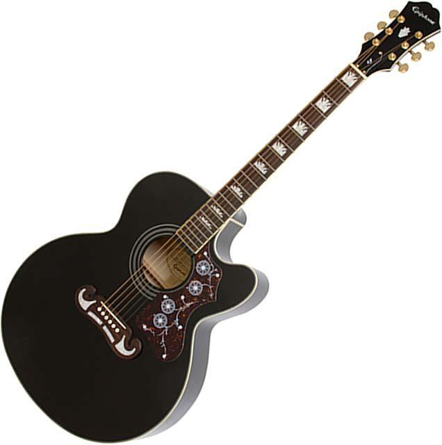 Epiphone EJ-200SCE Black ★Winter Sale!!★