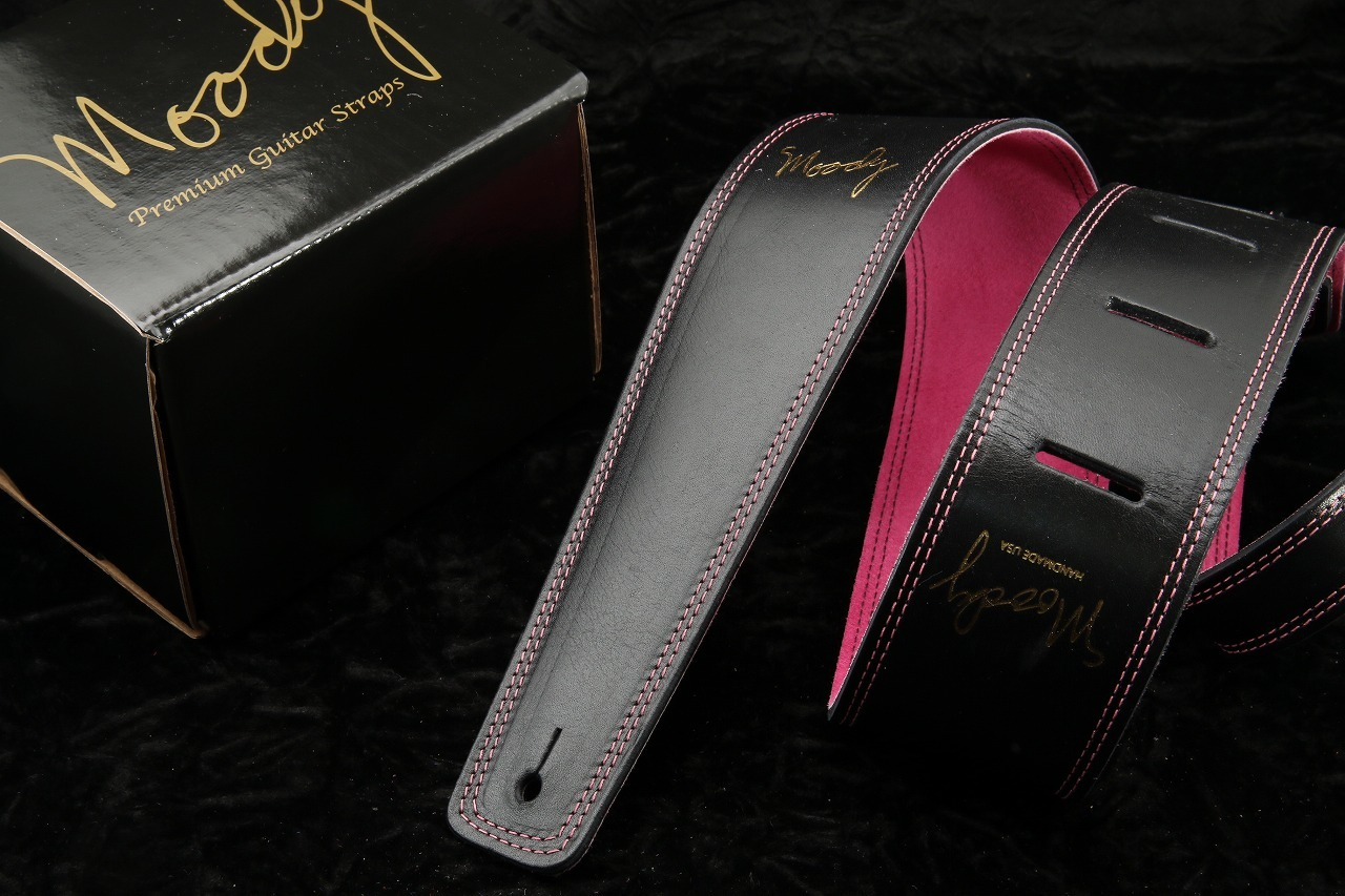 "moody 2.5 ""Leather / Suede STD [Black / Pink]"