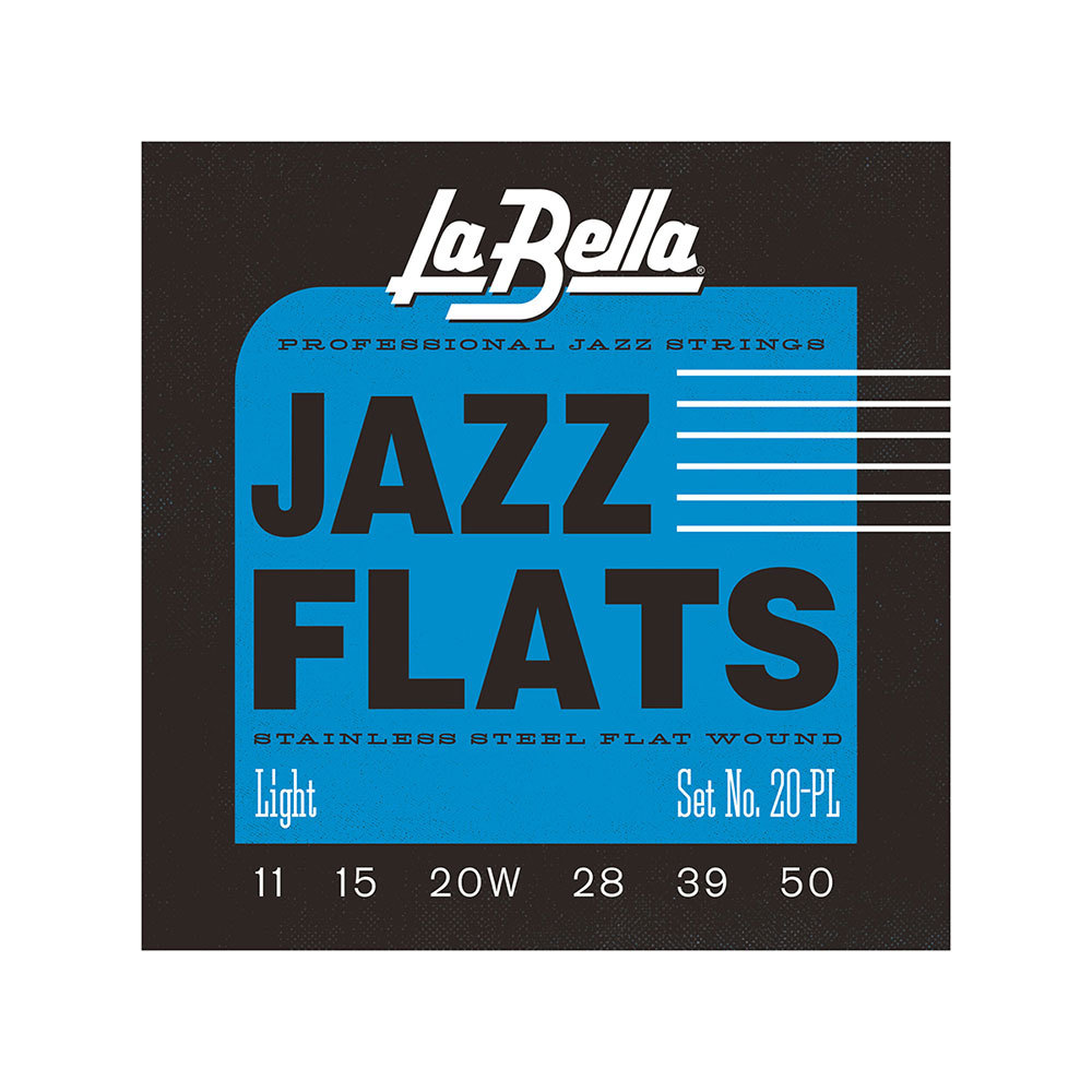 La Bella 20PL Light 11-50 Flat Wound Series ジャズギター弦×3セット