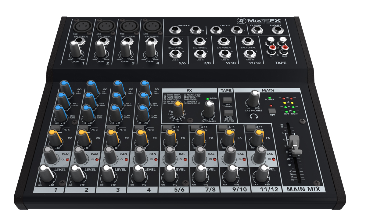 Mackie MIX12FX [12 channel, the effect visceral compact mixer]