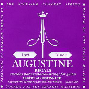 AUGUSTINE Regal Black Extra High Trebles Low Tension Basses 29.5-43.5 【WEBSHOP】