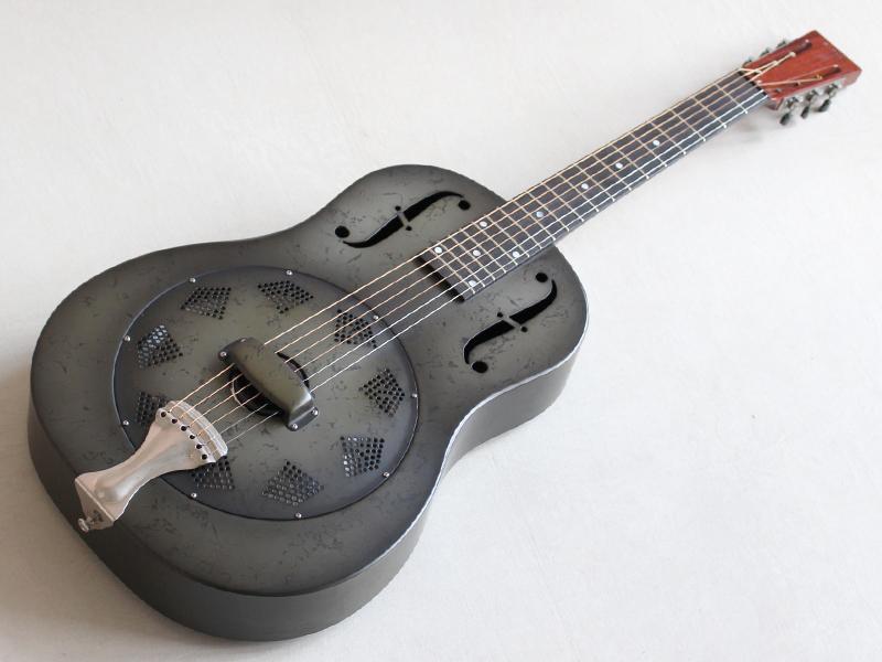 諧振器吉他是用來國家NRP-B黑銹☆金屬機身的股票