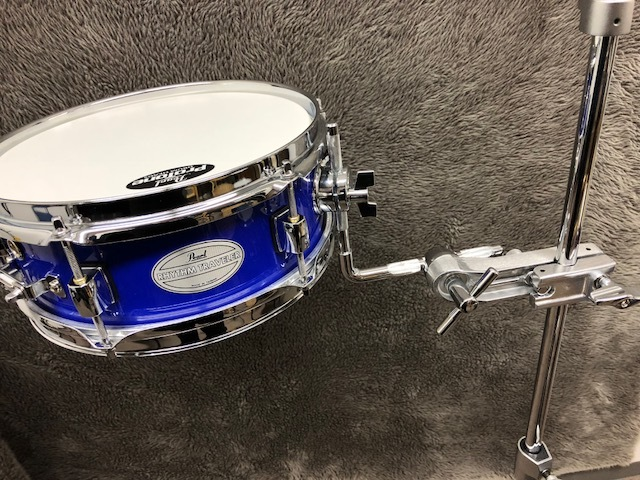 "Pearl Rhythm Traveler Effect Snare Drums RTN-1004SN (10 ""x4"") BLUE & special adapter PPS-37 SET"