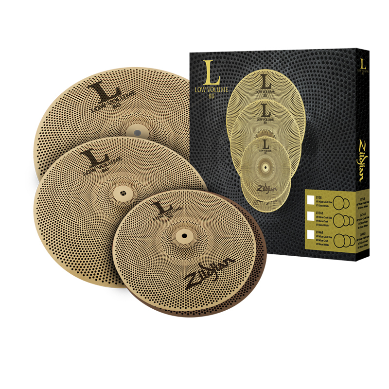 Zildjian L80 low volume 14HH / 16C / 18CR set [muffling cymbals set!] [15% OFF !!!!]