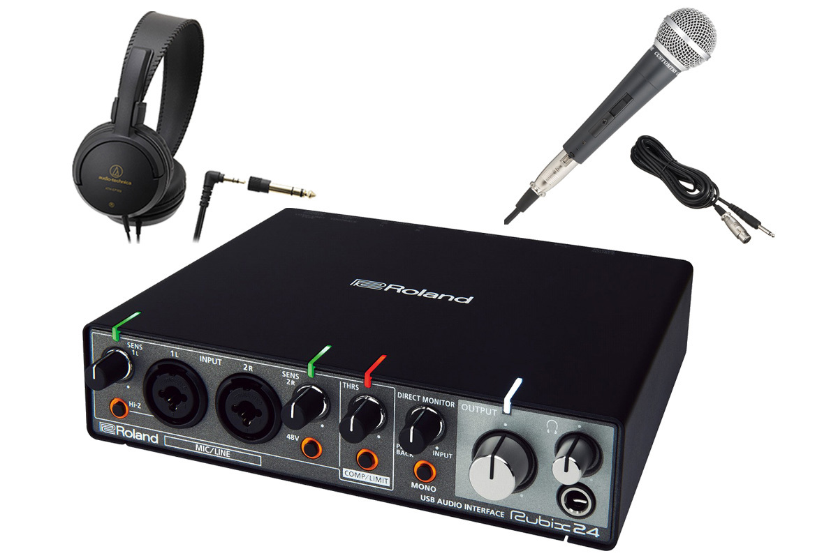 Roland Rubix24 [start set! The USB audio interface [WEBSHOP]