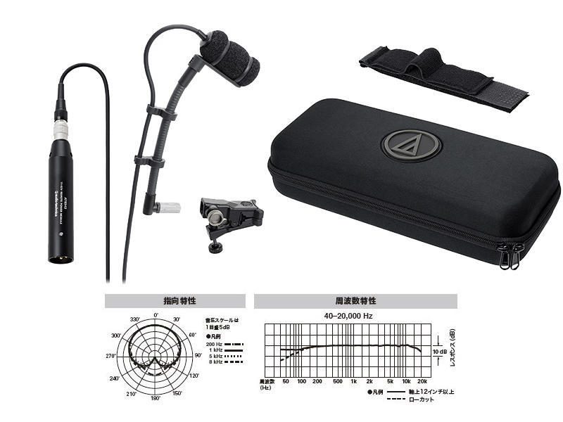 audio-technica ATM350U [optimal small condenser microphone for musical instruments sound pickup in such wind and stringed instruments] []