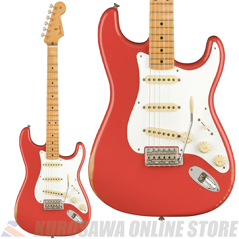 Fender Vintera Road Worn '50s Stratocaster, Maple, Fiesta Red 【期間限定生産】(ご予約受付中)