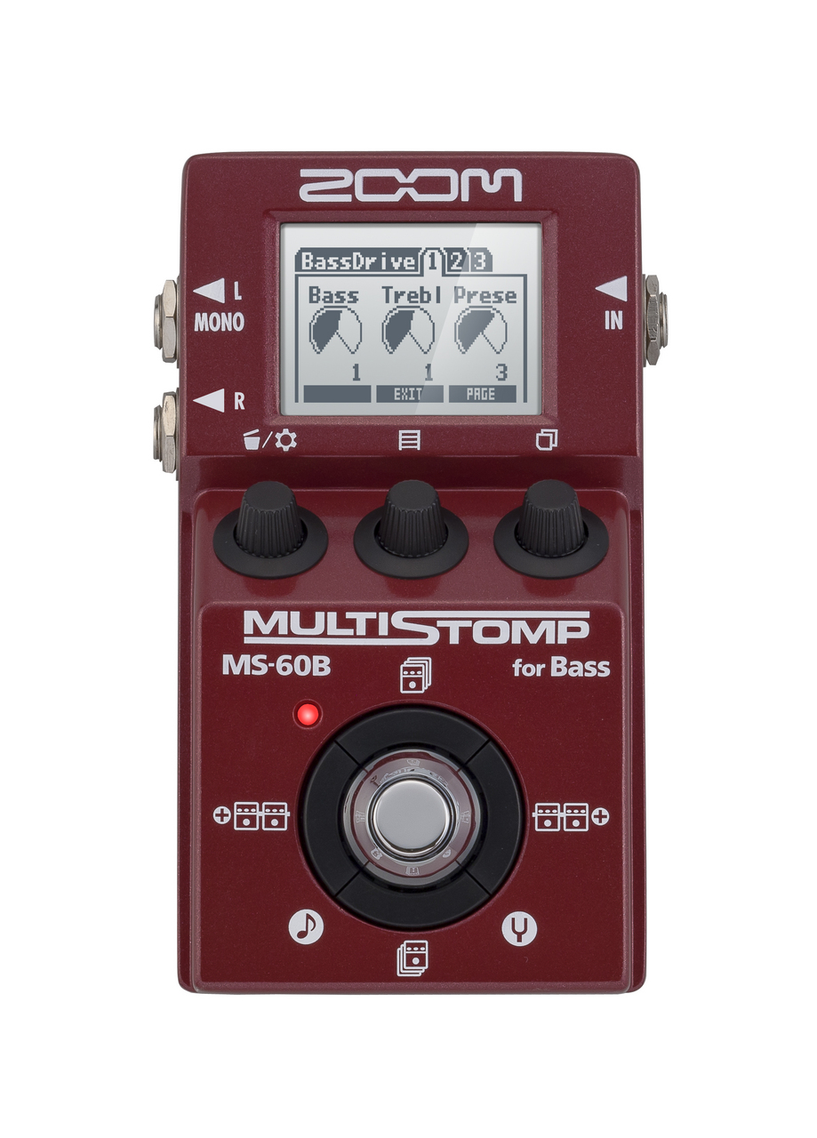 ZOOM MS-60B [the possibility of heavy bass are spread large, multi-Stomp !! for the base]