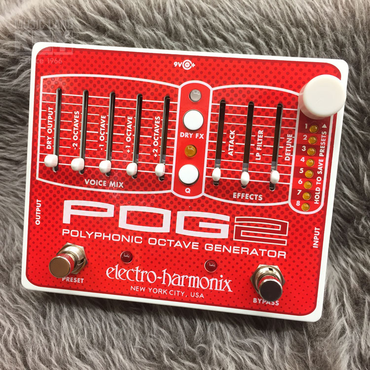 Electro-Harmonix POG2 Polyphonic Octave Generator [bargain sale! Special price!] [Create a massive upper and lower octave sound!]