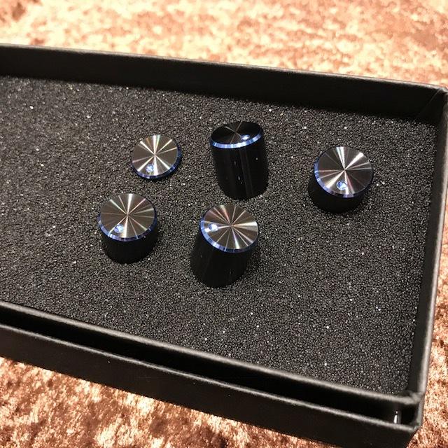 HATA Mininobu / BKBL double anodized /6.4Φ/ dot Yes / set of 5