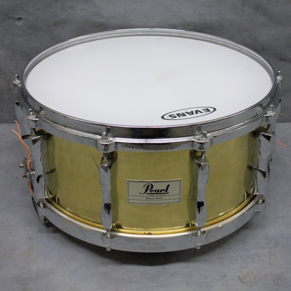"""Pearl BRASS SNARE 14 """"x 6.5"""" used goods"""