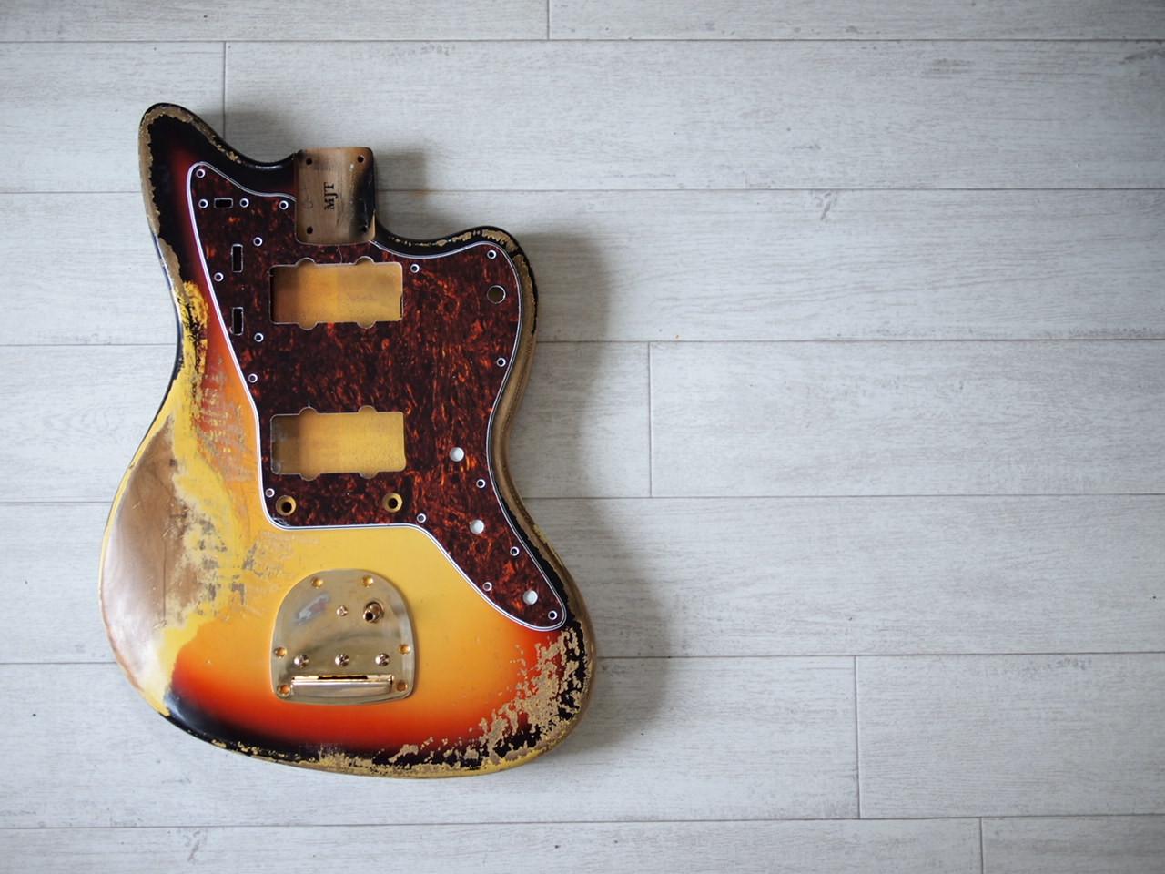 MJT Jazzmaster Body - 3-Color Sunburst - Heavy Relic