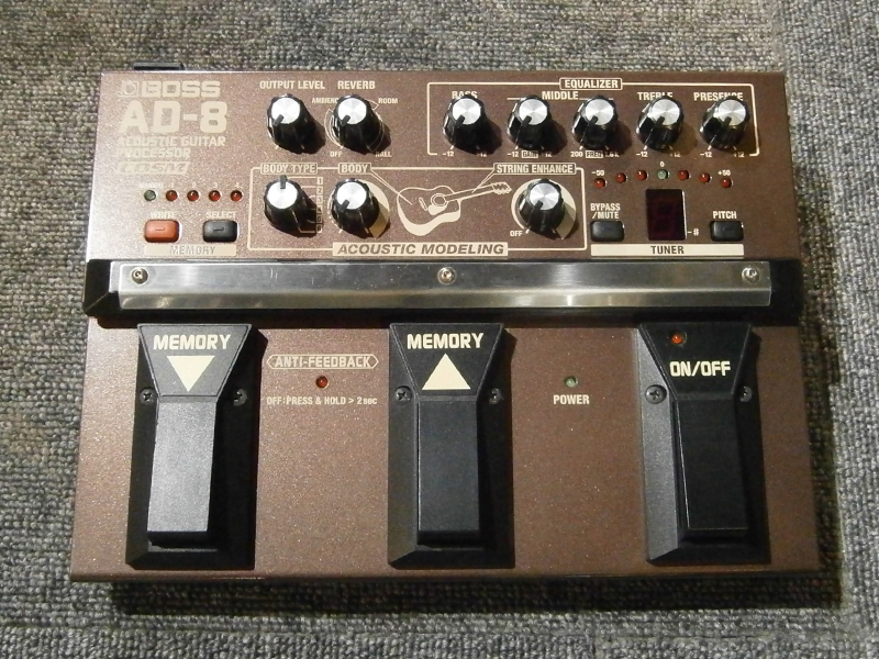 BOSS AD-8 ☆ equalizer, reverberation, processor USED stock of acoustic modeling equipped