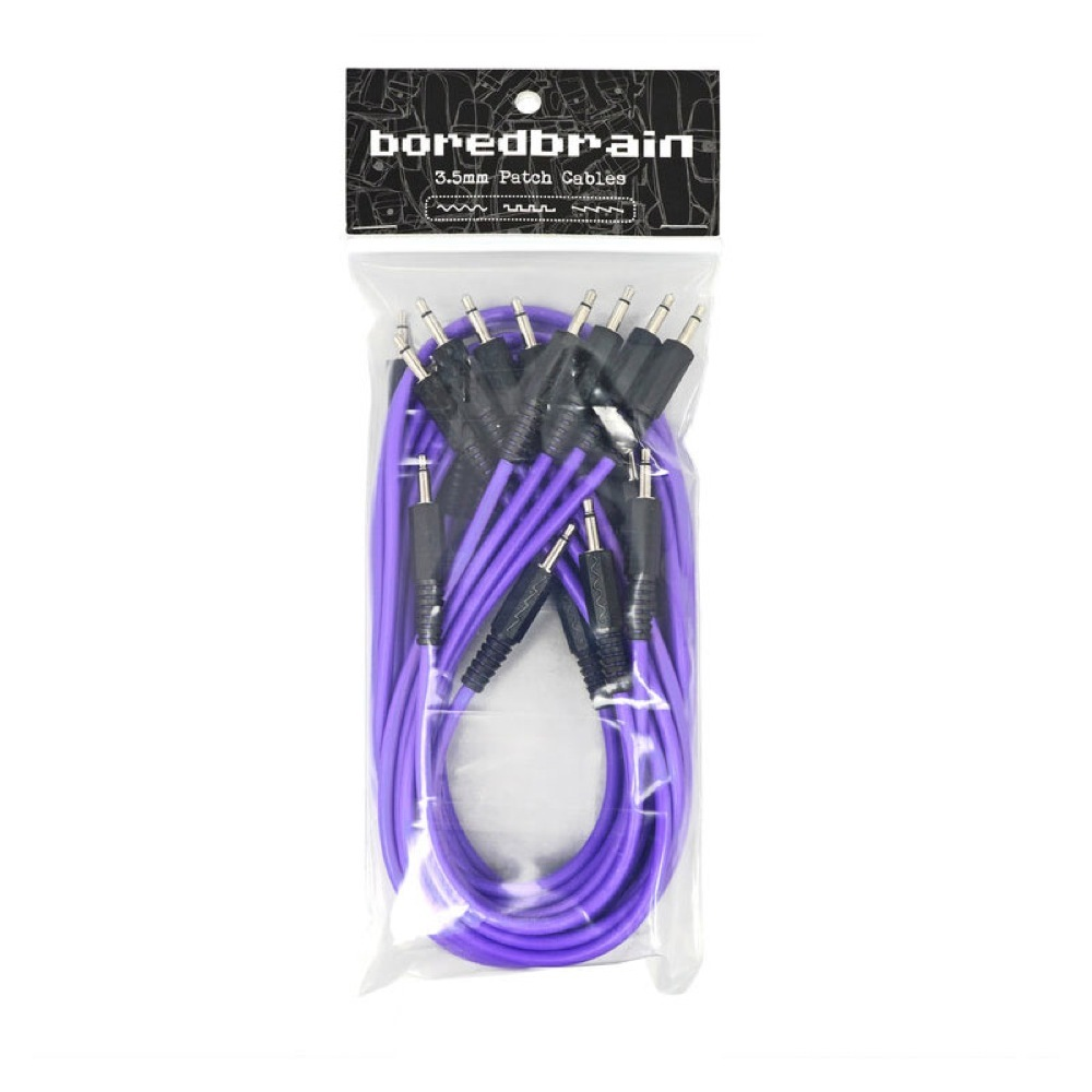 Boredbrain Music Eurorack Patch Cables Essential 12-Pack Amethyst Purple パッチケーブル 12本パック