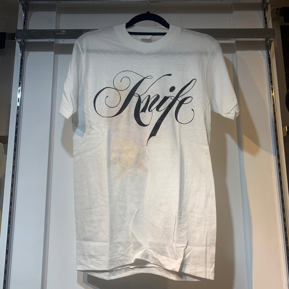 NO BRAND AZTEC CAMERA Tour 1984 Knife T-Shirt White 【御茶ノ水FINEST_GUITARS】