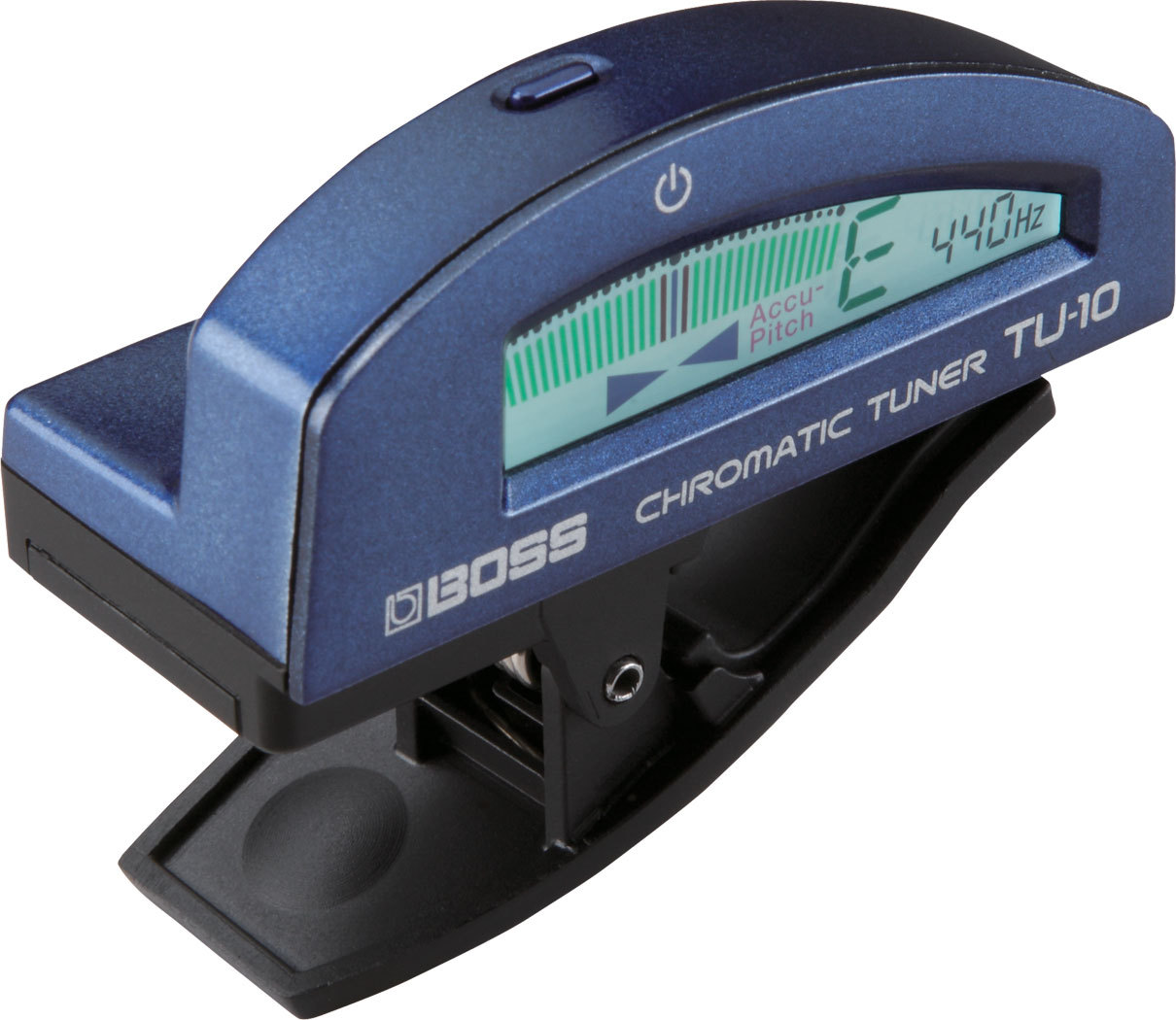 BOSS TU-10 Clip-on Chromatic Tuner Blue [BOSS-made classic clip tuner!]