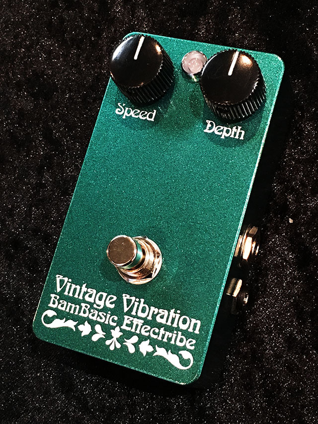 "Bam Basic Effects Vintage Vibration ""VCA"" (Metallic Dark Turquoise Blue)"