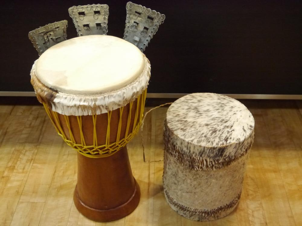 NO BRAND djembe + fur percussion set