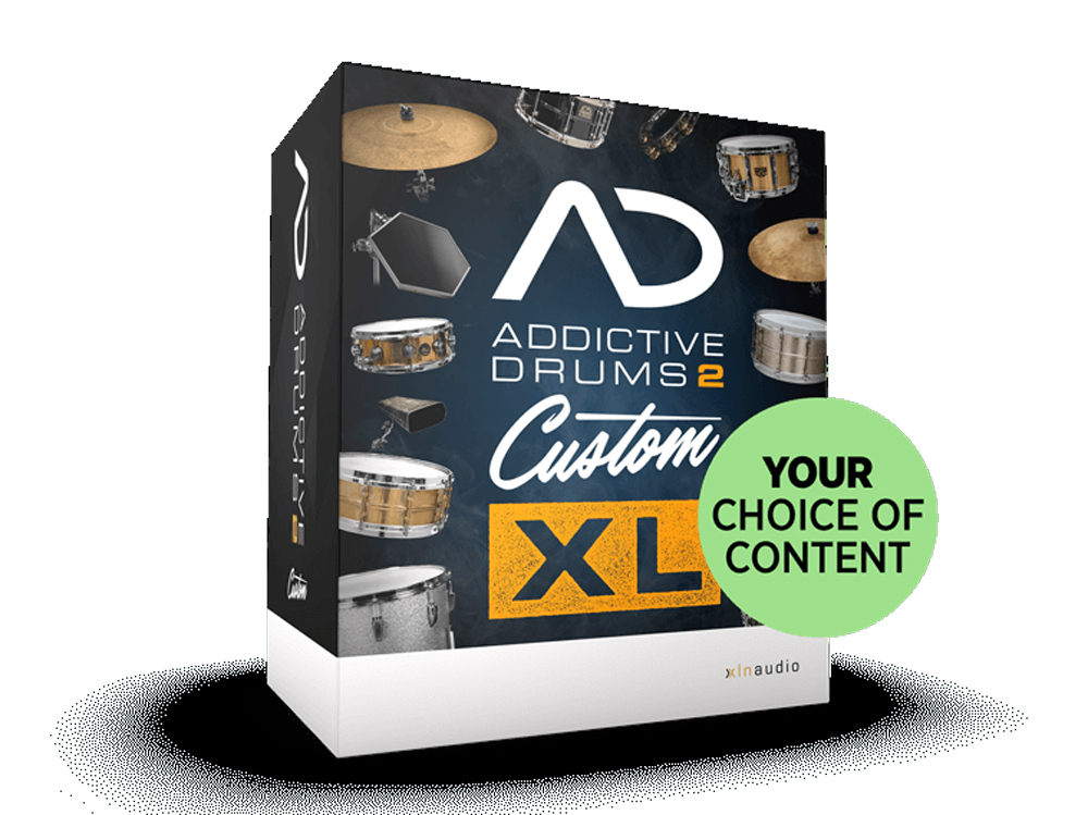 XLN Audio Addictive Drums 2 Custom XL download version [2018 HAPPY NEW YEAR MEGA BARGAIN 1/2 (Tuesday) to 1/8 (celebration, month)]