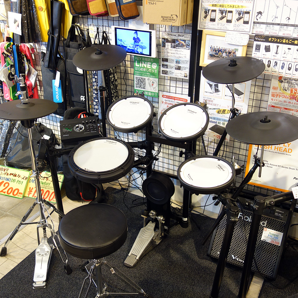 [One limited bargain basement !! for the over-the-counter exhibition replacement] Roland V-Drums TD-17KVX-S full set of options