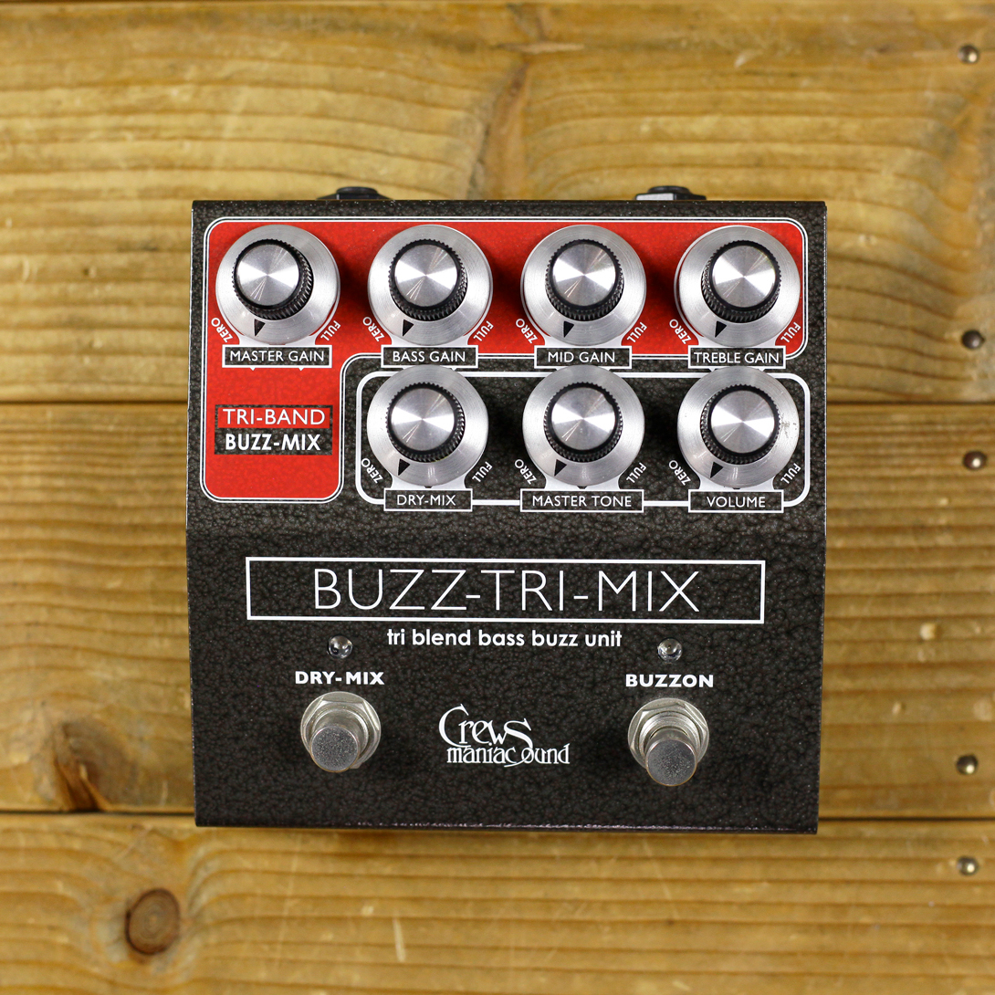 Crews Maniac Sound Buzz-Tri-Mix Bass Fuzz Pedal