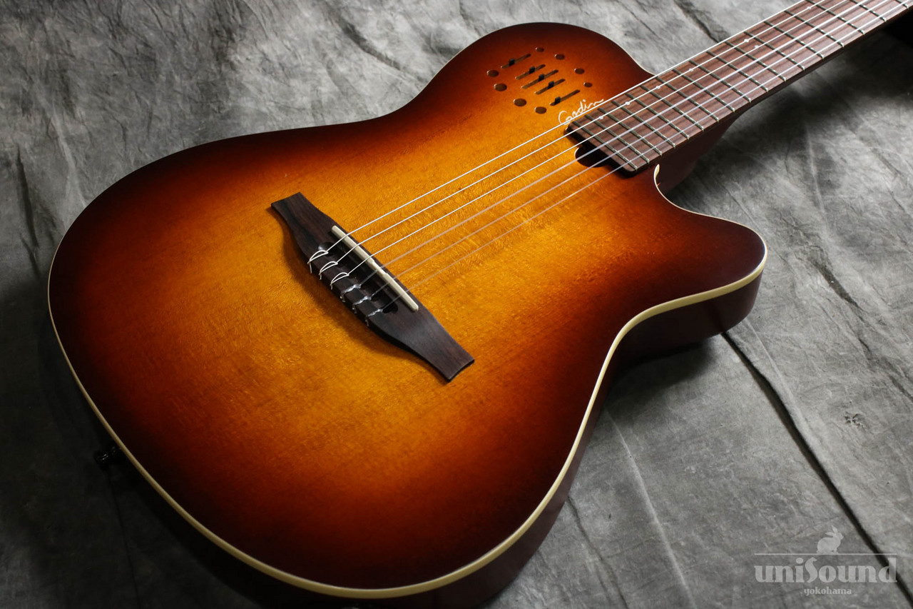 Godin Multiac Nylon Encore Burnt