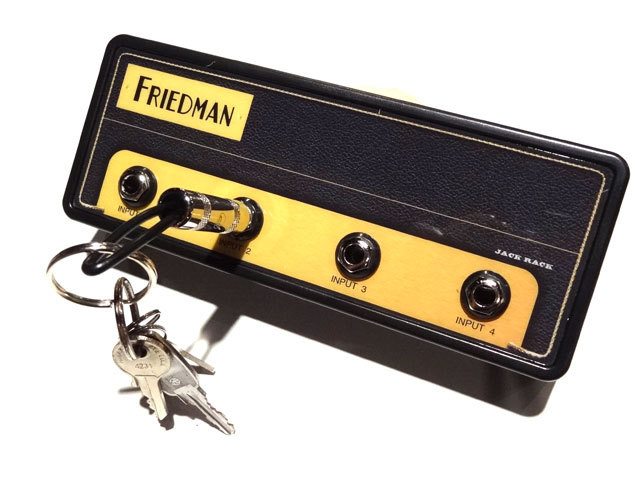 "Pluginz Official FRIEDMAN Jack Rack- ""BE-100"" with 4 keychains"