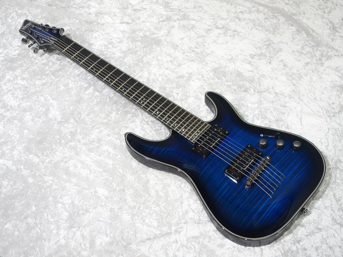 SCHECTER BLACKJACK AD-C-7-BJ-SLS / P See Thru [interest rate fees up to 18 times!] Blue Burst