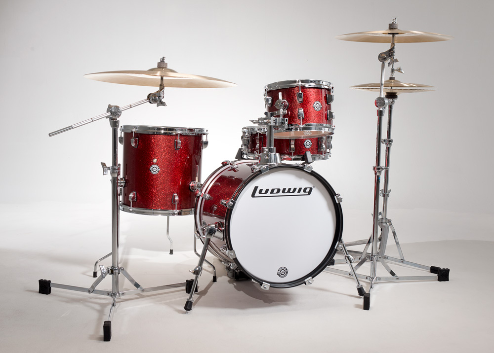 Ludwig BREAKBEATS LC179X # Wine [big success !! small caliber set !! in clubs and street] Red Sparkle