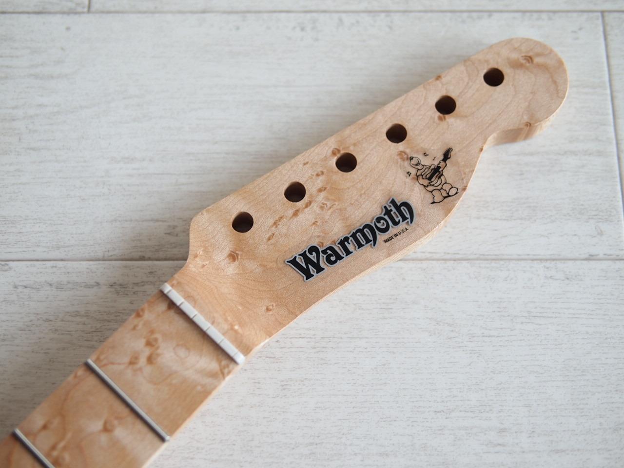 """WARMOTH Telecaster Neck """"Fatback"""" - Birdseye Maple/Birdseye Maple - Modern"""