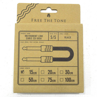 Free The Tone INSTRUMENT LINK CABLE CU-5050 15cm S/S