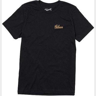 Gibson Banner Logo Tee (Black Heather) Small GA-LC-BNRTSM