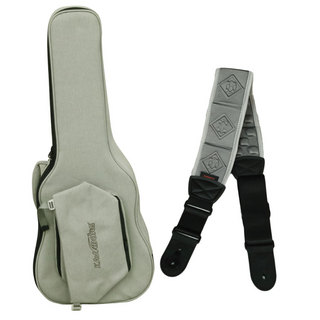 Kavaborg Fashion Guitar and Bass Bag for Acoustic Guitar + Guitar Strap Gray アコギ用ケース&ストラップセット