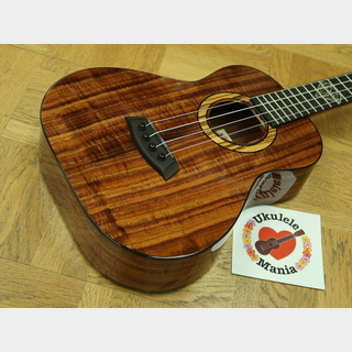 "Kanile'a ""Diamond"" Super-Tenor Custom Curly Koa Wide Body Tenor ウクレレ#3658"